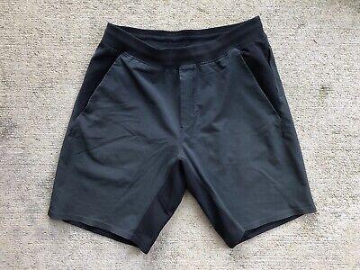 """Lululemon Men's In Mind Shorts Large Grey Black No Liner 9"""""""