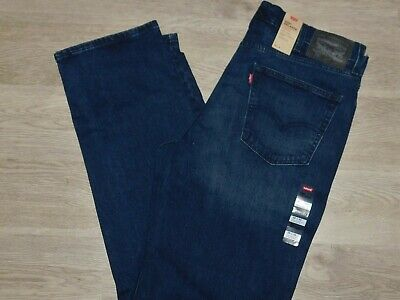 LEVIS 550 Relaxed Fit Jeans Comfort Stretch Big & Tall Dk Blue Twist Choose Size