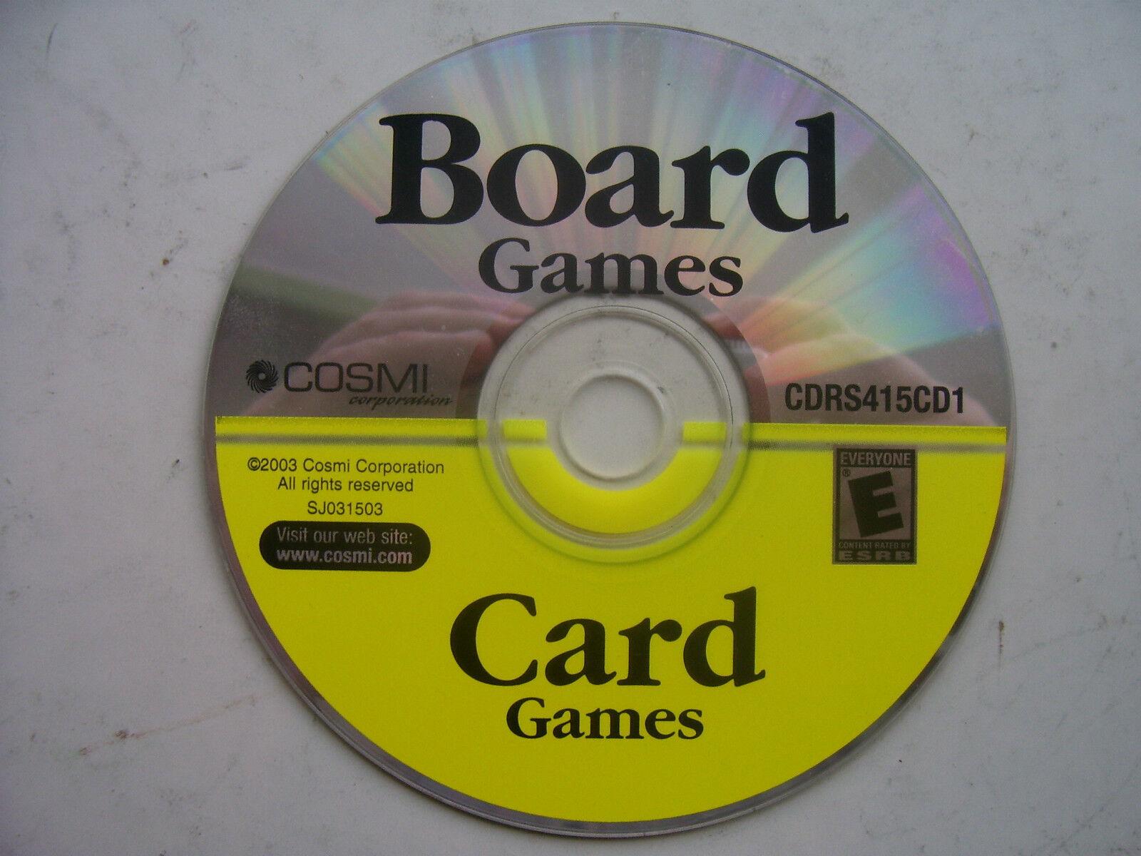 Board & Card Games (PC Windows  2003)