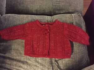 red sparkly sweater