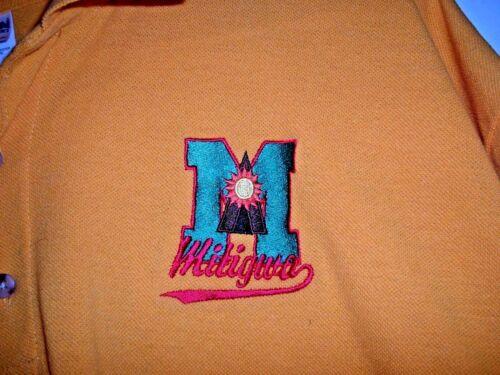 Vintage Mid-Iowa Camp Mitigwa Logo Adult Large Yellow Polo Shirt