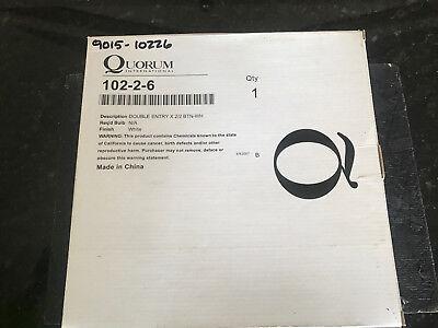 6 Quorum Lighting Door Chime (Quorum Lighting White Door Chime - 102-2-6 -NEW  SURPLUS STOCK)