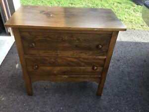 Small Mission Style Antique Dresser