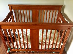 Wood crib change table and rocker glider