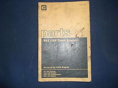 Cat Caterpillar 953 Lgp Track Loader Parts Book Manual Sn 5z1-up