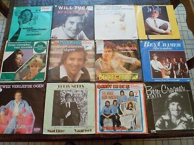 "Lot de 12 Vinyles - 7"" - 45 tours Néerlandais - Voir Photo - (46)"