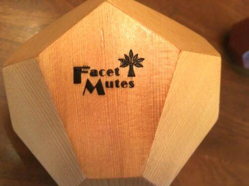 Facet Wood Cup Trumpet Mute