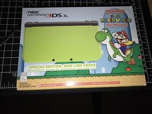 New Nintendo 3Ds XL Amazon super mario lime special edition