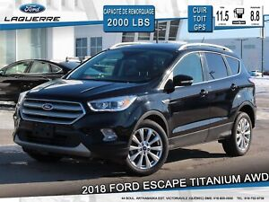 2018 Ford Escape TITANIUM**AWD*CUIR*TOIT*GPS*CAMERA*FORDPASS**
