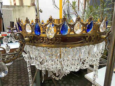Kristall Kronleuchter Hängelampe 12 Flammig ∅ 80 cm H 70 cm