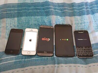 Mobile phone Joblot Apple HTC Nexus Working