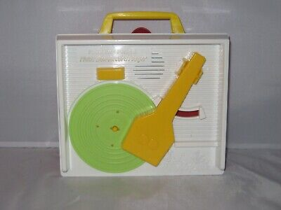2014 Fisher Price Music Box Record Player 5  Records 8 Songs Fully Tested Works