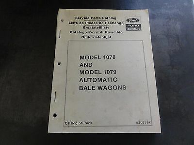 New Holland Model 1078 And 1079 Automatic Bale Wagons Service Parts Catalog