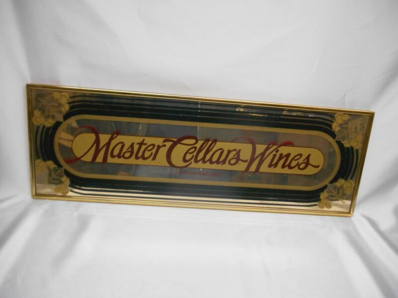 Old Vtg ANHEUSER-BUSCH WINES MASTER CELLARS STORE BAR ADVERTISING MIRROR SIGN