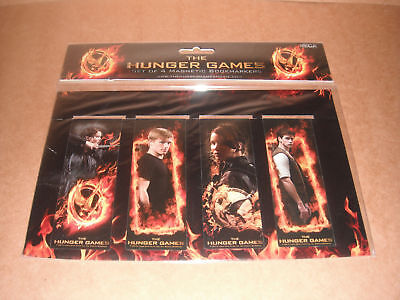 The Hunger Games Set of 4 Magnetic Bookmarks NEW