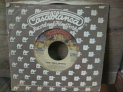 ACE FREHLEY 45 rpm  NEW YORK GROOVE   CASABLANCA Label VINYL KISS  VG
