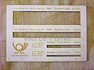 1 Postschablone , Formatschablone, Briefschablone, Portoschablone, Holz stabil