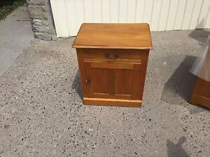 Small oak wash stand, one door and one drawer, $65