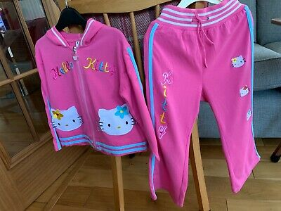 Hello Kitty Girls Pink Tracksuit, Age 5-6 Yrs , excellent condition