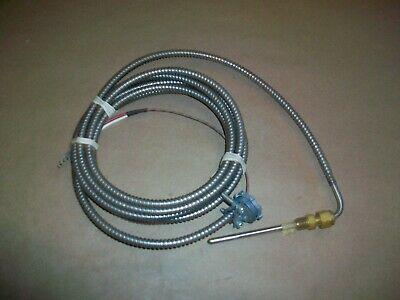 J Type Armored Thermocouple 2.75 Probe  14 Npt  New