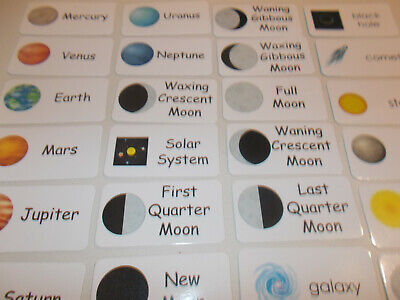 Solar System flash cards.  Preschool and Pre Kindergarten learning activity.  -