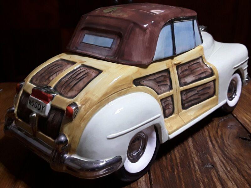 """Omnibus / Fitz & Floyd """"Woody"""" Cookie Jar - 1993 American Roadside - VHTF"""