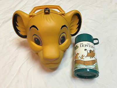 Vintage Lion King (Simba Head ) Lunchbox With Thermos Aladdin