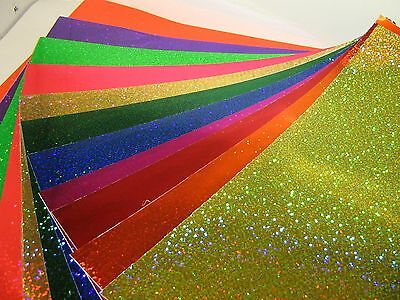 Glittering Sign Vinyl Sample Pack8 X 12 Inch Sheets Holographic Sequins Glitter