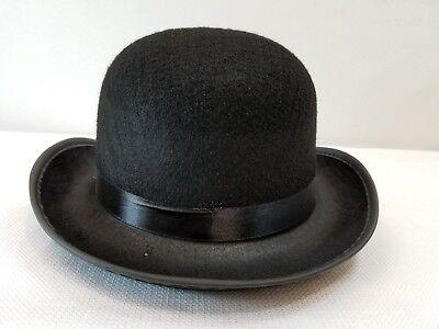Bowler Hat Halloween Costume (Adult Derby Bowler Hat Black Dance Costume Prop Halloween Jazz Tap New)