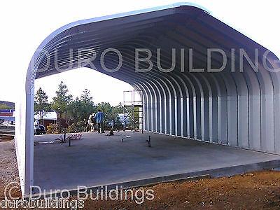 Durospan Steel 20x30x16 Metal Prefab Arch Building Kit Open Ends Factory Direct