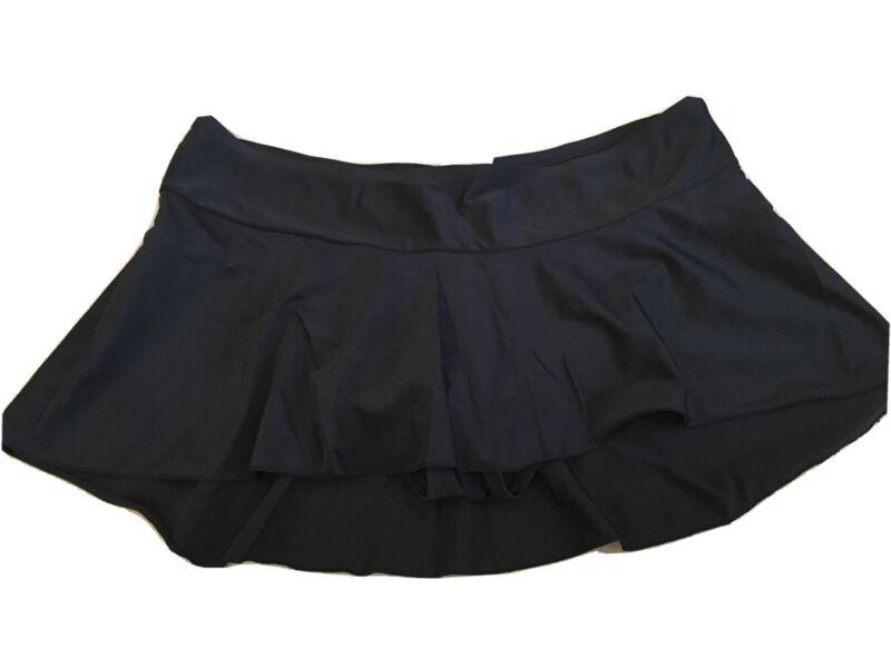 Motherhood Maternity Swimsuit Skirt Bottom Black Large Womens
