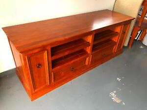 Solid Timber Tv Cabinet And Coffee Tables