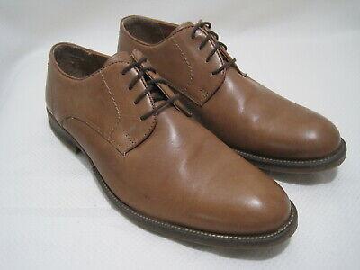 ALFANI ROSS Men's Size 10M Brown Leather Lace-Up Plain Toe Derby Shoes