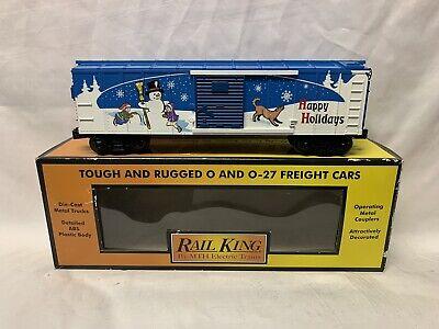 ✅MTH RAILKING HAPPY HOLIDAYS BOX CAR 30-74780! FOR O GAUGE TRAIN SET CHRISTMAS