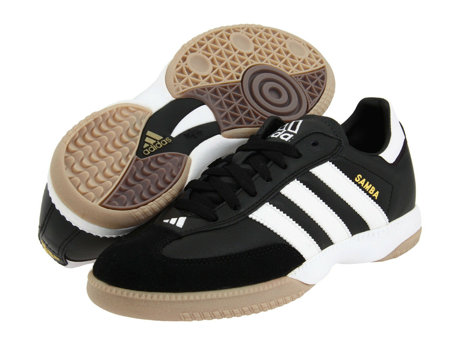 Men's Adidas Samba Millennium IN Black Sport Indoor Soccer Shoes 088559 9-13.5