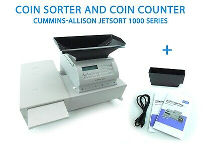Cummins Allison Jetsort 1621 Coin Sorter And Coin Counter With Addons