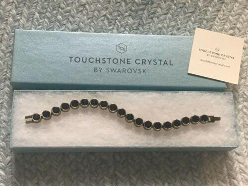 Touchstone Crystal Swarovski Ice Bracelet Purple w. Bronzed Metal Retired Color