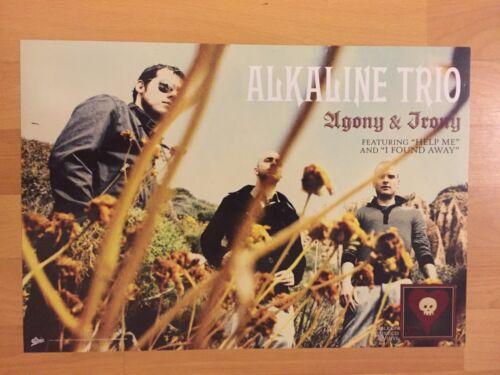 "ALKALINE TRIO Agony & Irony Promo 2-sided 12"" Poster Misfits Emo Punk Blink 182"