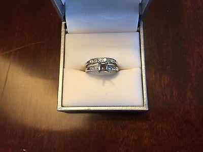 Vintage 14k White Gold Semi Mount Diamond Ring for approx .75ct. Diamond
