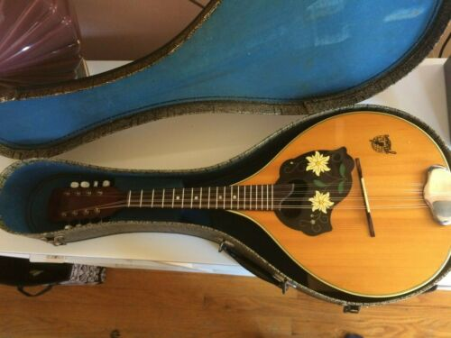 Vintage 1960 Framus 6/27 Manuela fancy mandolin in case! German-made, must see!