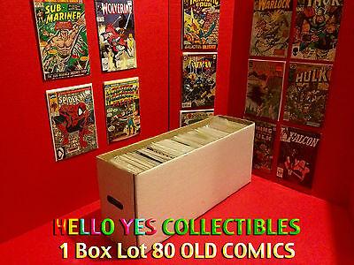 1 Box Lot 80 OLD COMICS Marvel, DC Spiderman, X-Men, Black Panther, Superman CGC