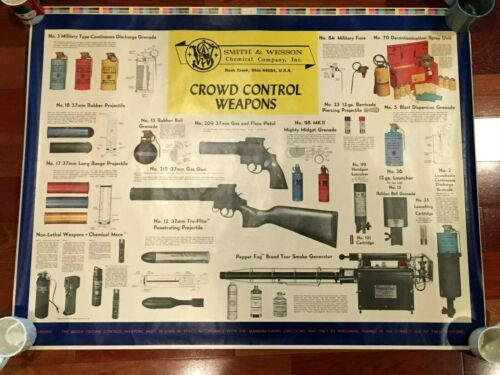 ORIGINAL SMITH & WESSON CROWD CONTROL WEAPONS POSTER MILITARY