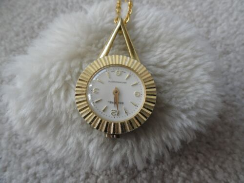 Vintage Swiss Made Schaffel Wind Up Necklace Pendant Watch