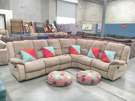 DELIVERY TODAY EXTREMELY COMFORT L RECLINER corner sofa SALE NOW