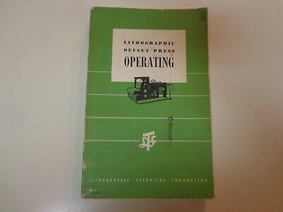 Offset Printing Machinery - Lithographic Offset Press Operating 1956 Typography Printing Machinery