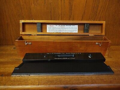 Vintage Starrett No.199 Master Precision Level With Wood Case Box Made In Usa