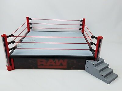 Wwe Elite Raw Ring With Led Lights Huge Ring Authentic Scale