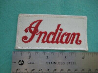 Vintage Motorcycle By Indian Service Dealer Hat Patch