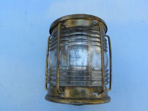 Triplex Vintage Ship Light Clear glass Brass  Humidor