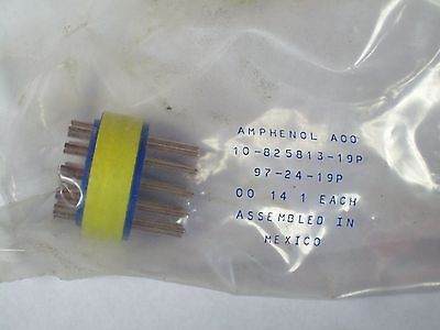 New Amphenol 12 Pole Connector 97-24-19p 10-825813-19p